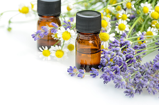 aromatherapy treatment with chamomile and lavender